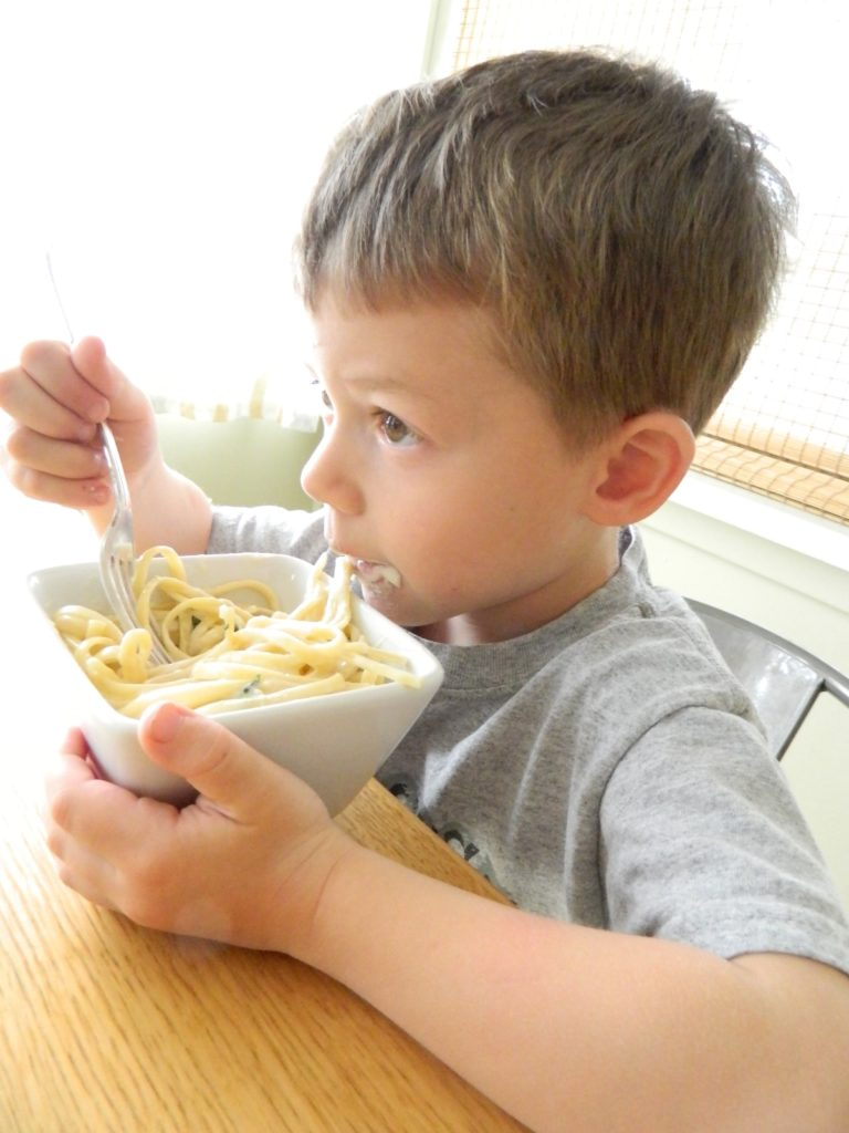 A boy and his Magical cheesy Pasta - finestofsuppers.com