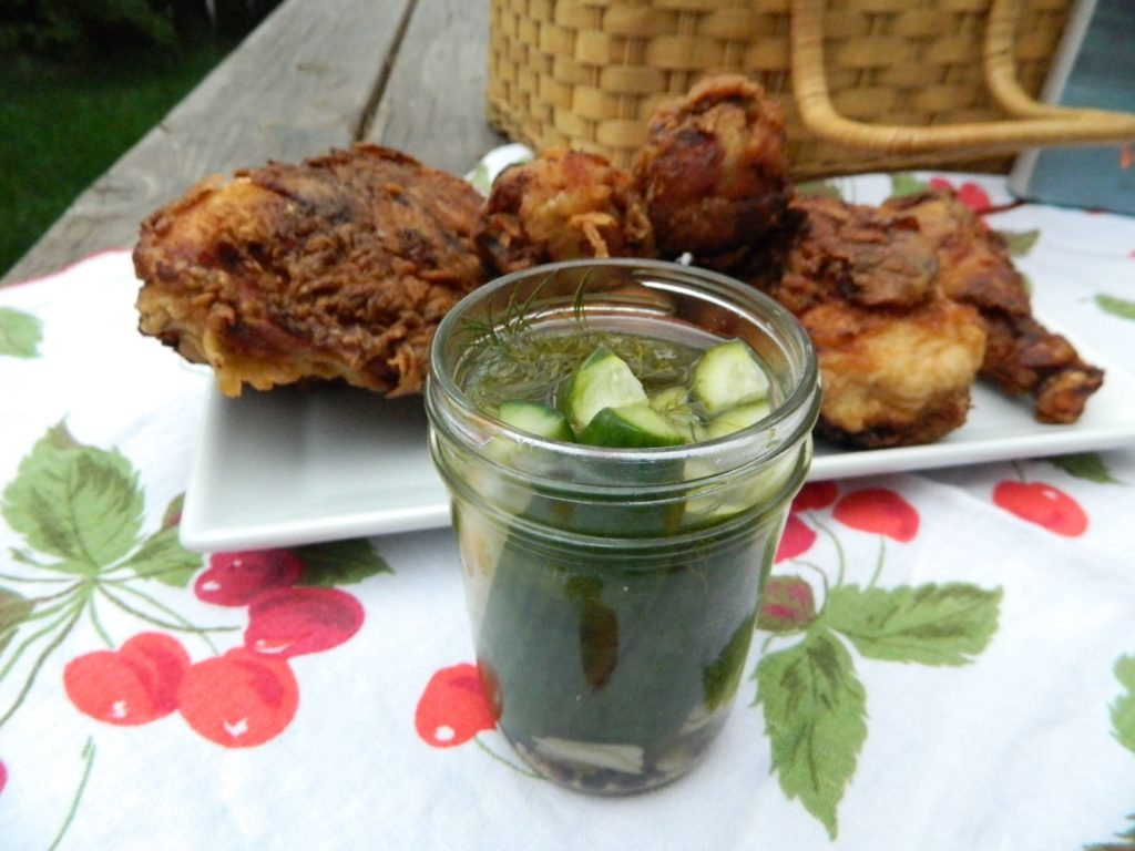 Buttermilk Fried Chicken and Refrigerator Dill Pickles - finestofsuppers.com