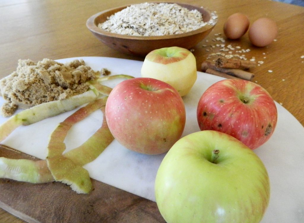 Ingredients for Cinnamon Apple Baked Oatmeal - finestofsuppers.com
