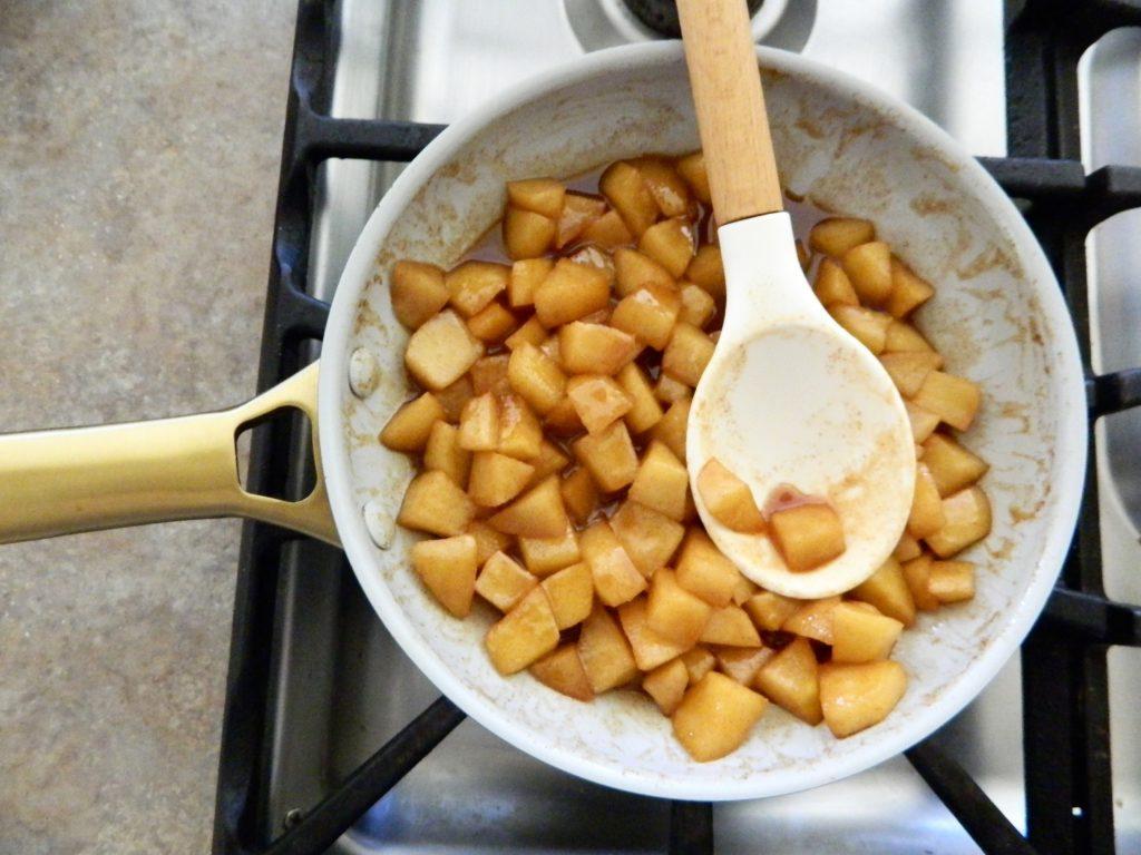 Cinnamon Apples for Cinnamon Apple Baked Oatmeal - finestofsuppers.com