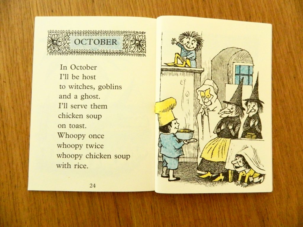 October page from Chicken Soup with Rice by Maurice Sendak