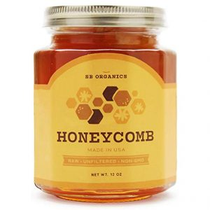 Jar of honeycomb for sale on amazon.com