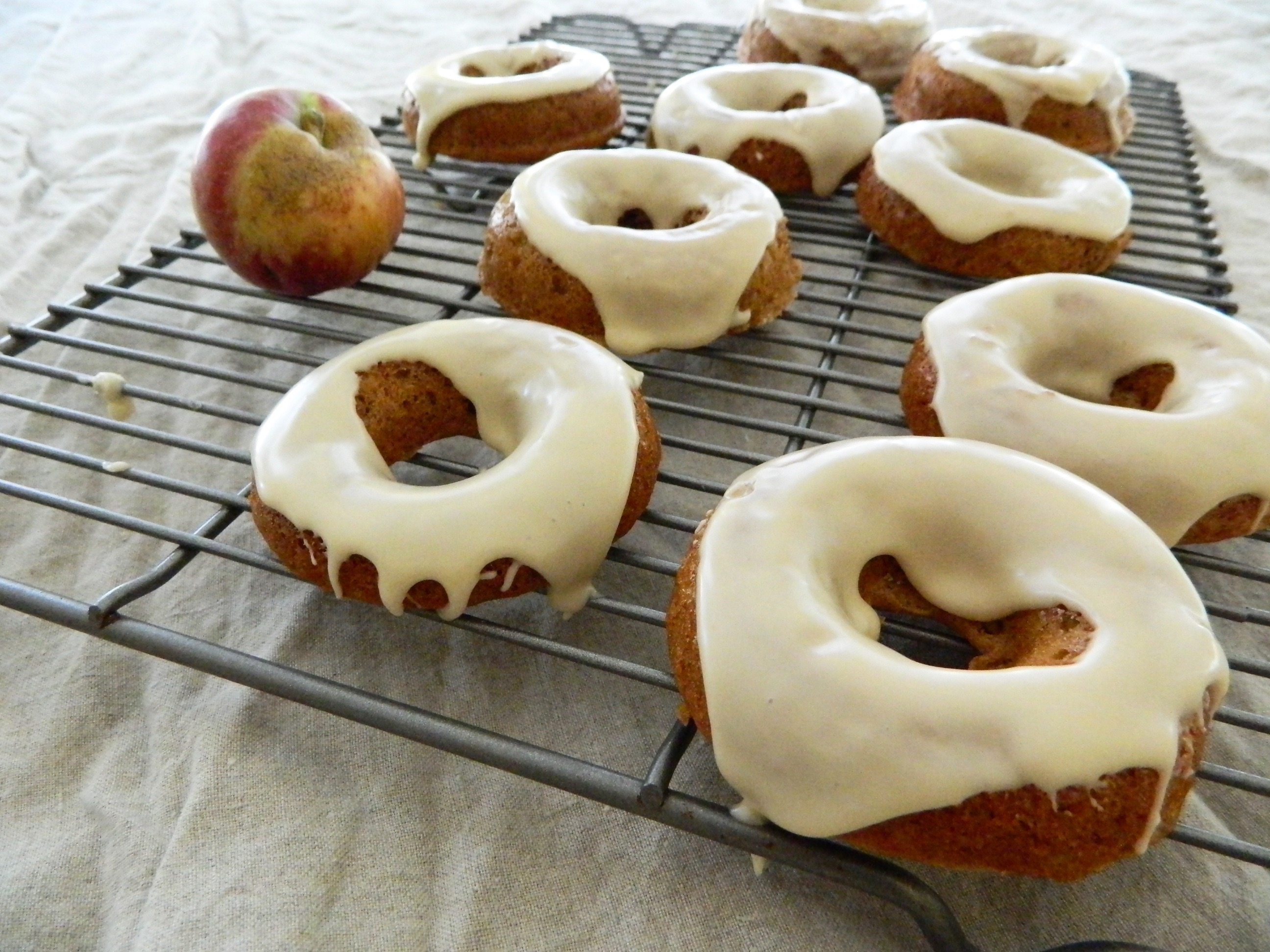 Maple Glazed Apple Cider Donuts - finestofsuppers.com