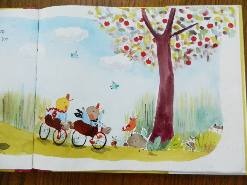 "illustration from ""Ducking for Apples"" by Lynne Berry"