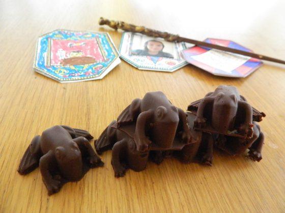 Dark chocolate Almond Butter Frogs - finestofsuppers.com