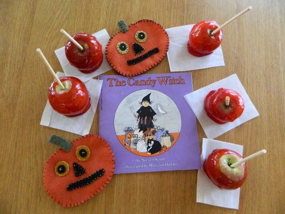 "Recipe for Vanilla Spiced Candy Apples and ""The candy Witch"" by Steven Kroll"