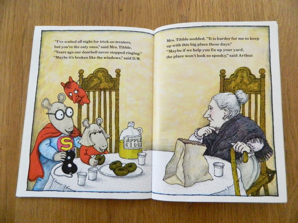 """Page from the book """"Arthur's Halloween"""" by Marc Brown"""