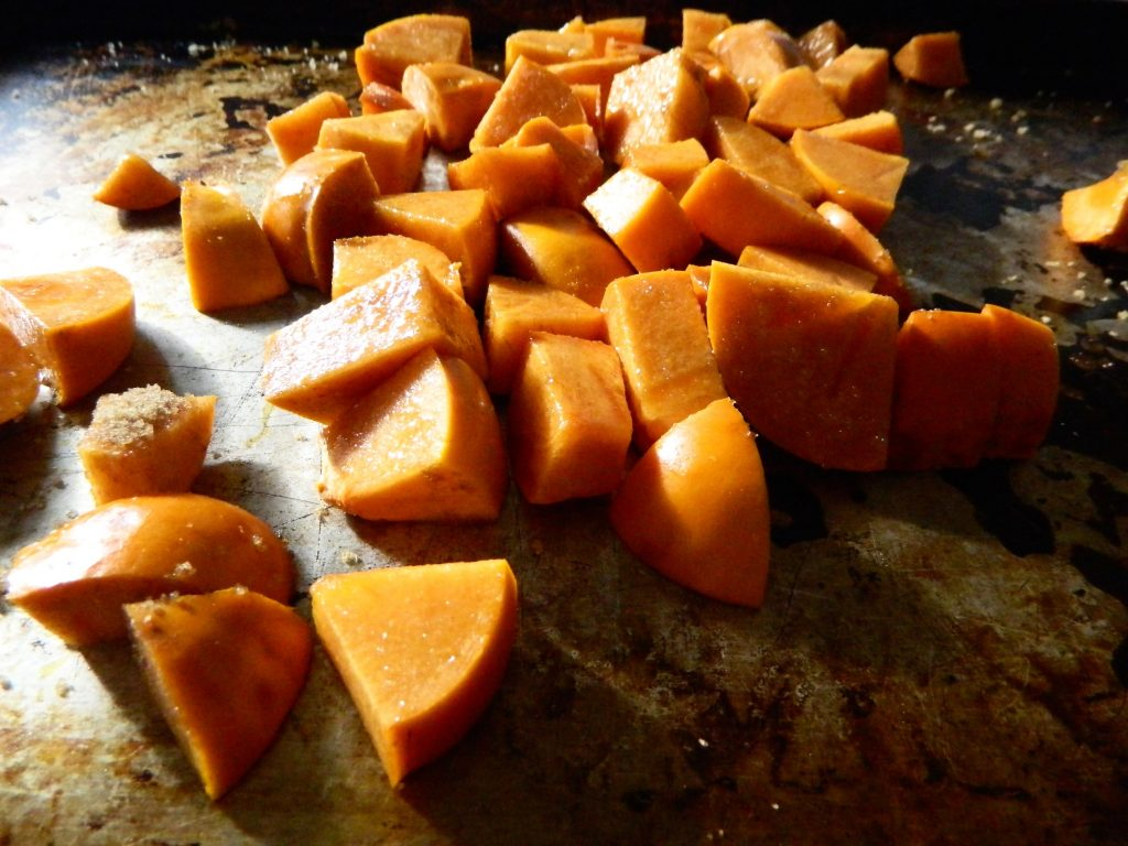 Roasting Persimmons for Persimmon Pecan Bread - finestofsuppers.com