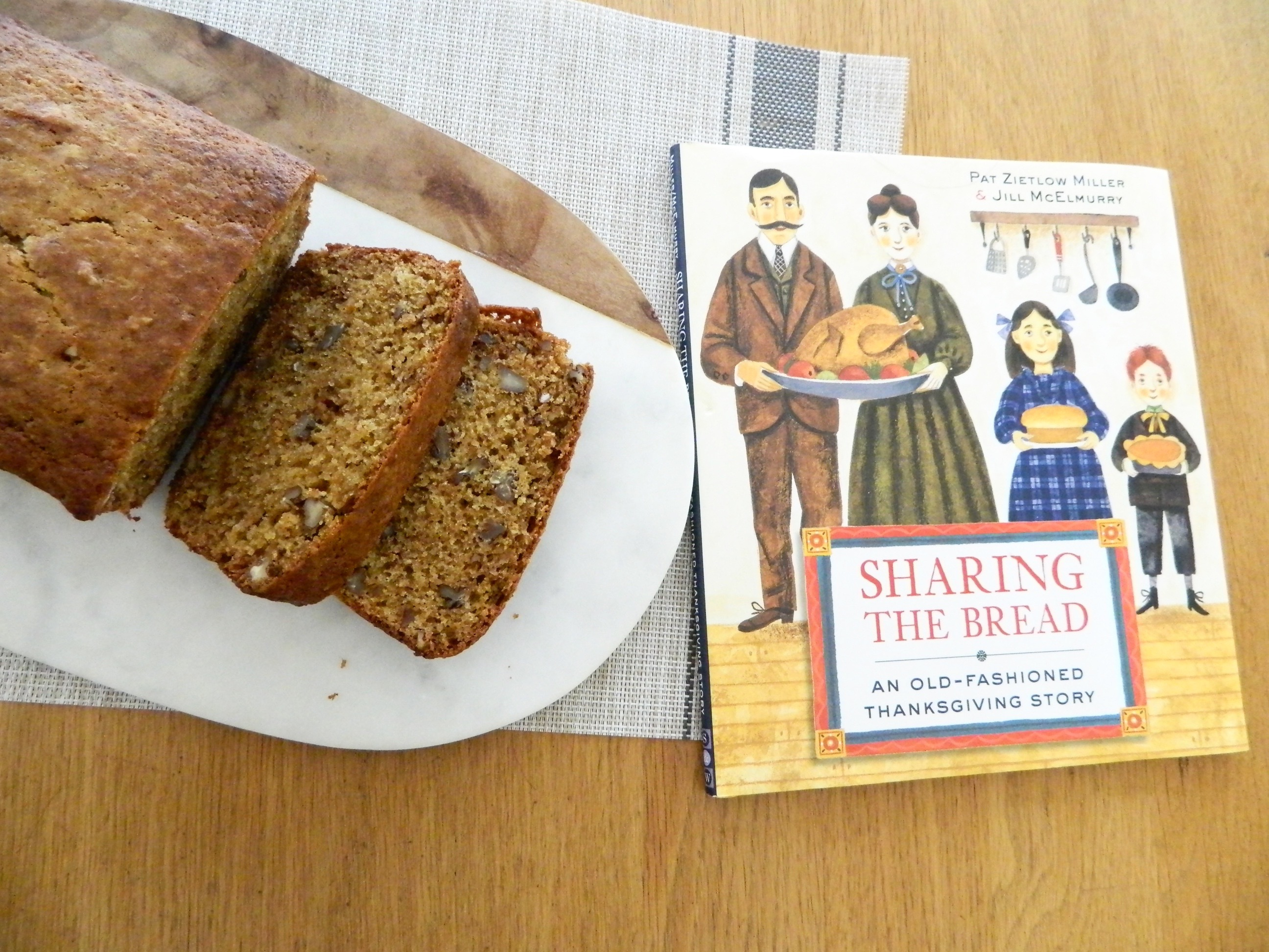 Sharing the Bread book and Persimmon Pecan Bread - finestofsuppers.com
