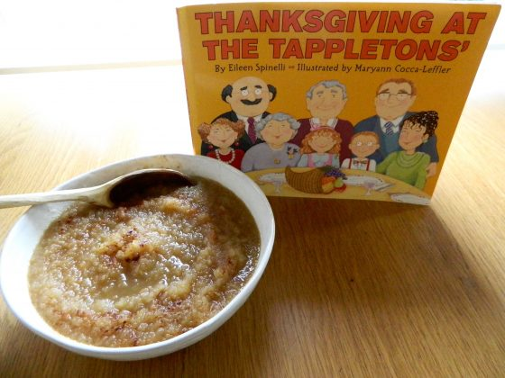 "Chai Spiced Applesauce and ""Thanksgiving at the Tappletons"" - finestofsuppers.com"