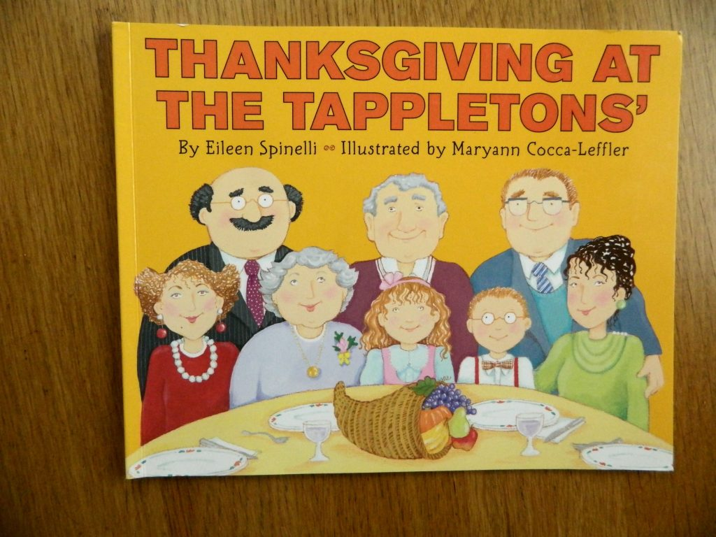 """Thanksgiving at the Tappletons"" children's picture book for Thanksgiving"