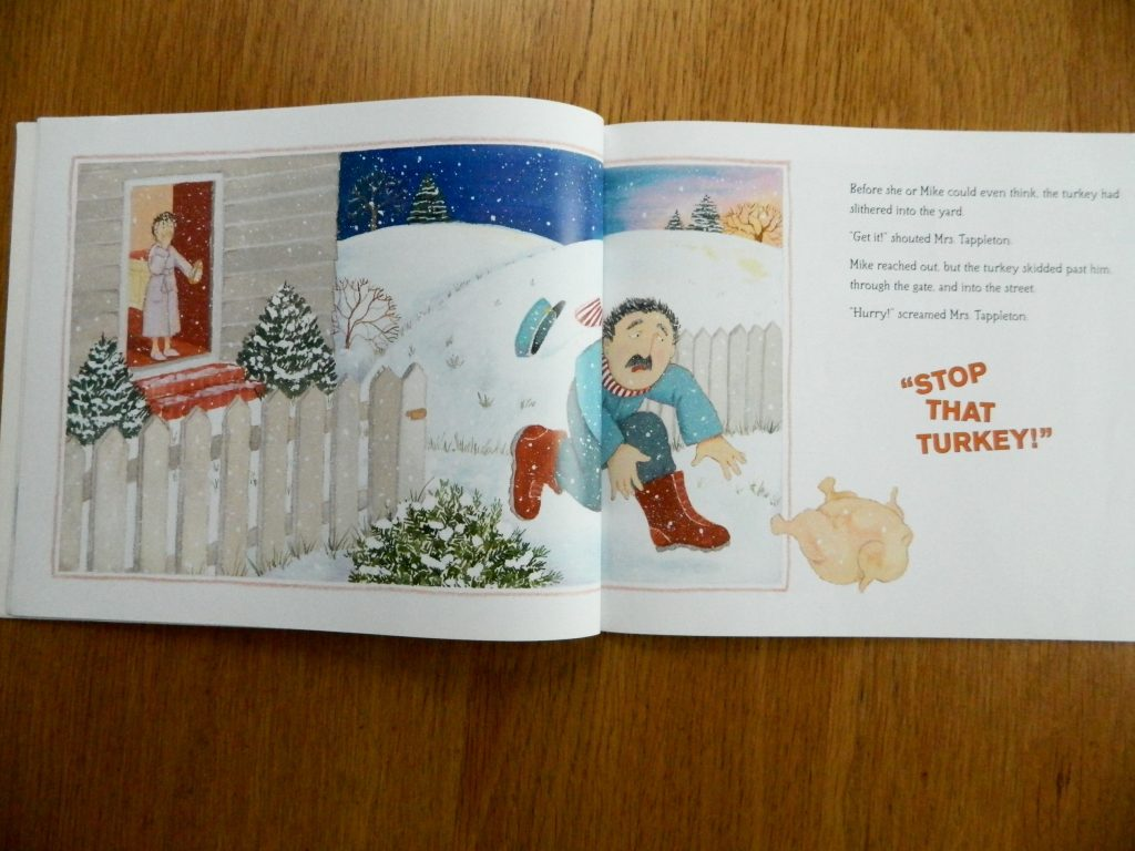 """A page from """"Thanksgiving at the Tappletons"""" by Eileen Spinelli"""