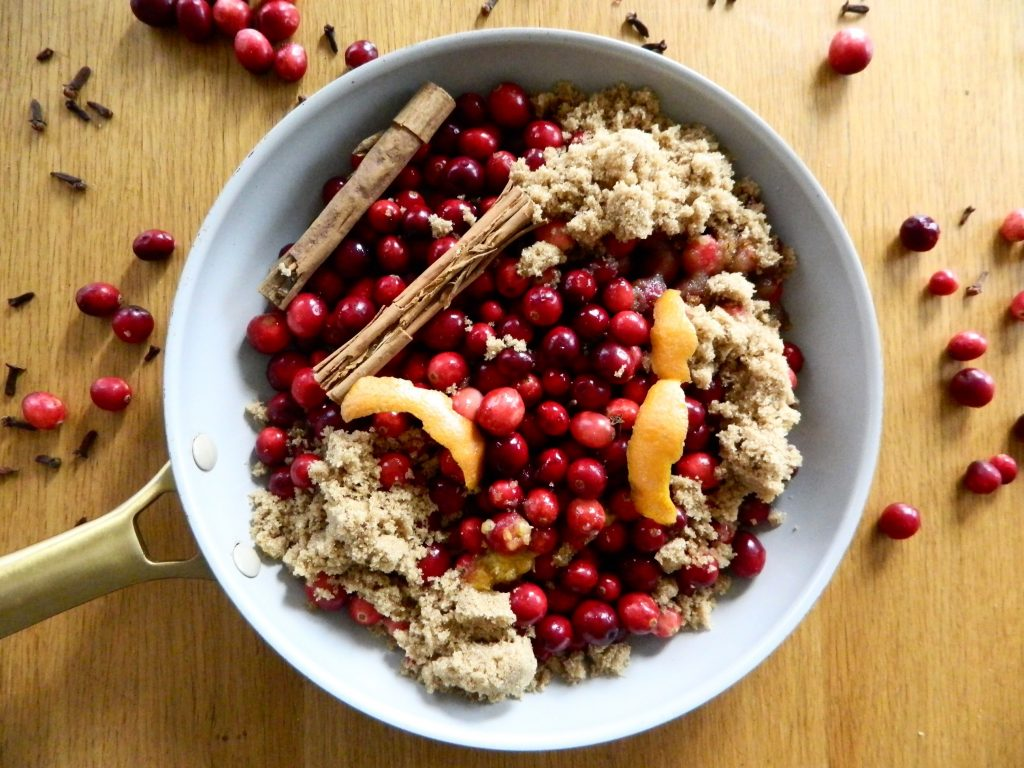 Getting ready to cook Orange Spice Cranberry Sauce - finestofsuppers.com