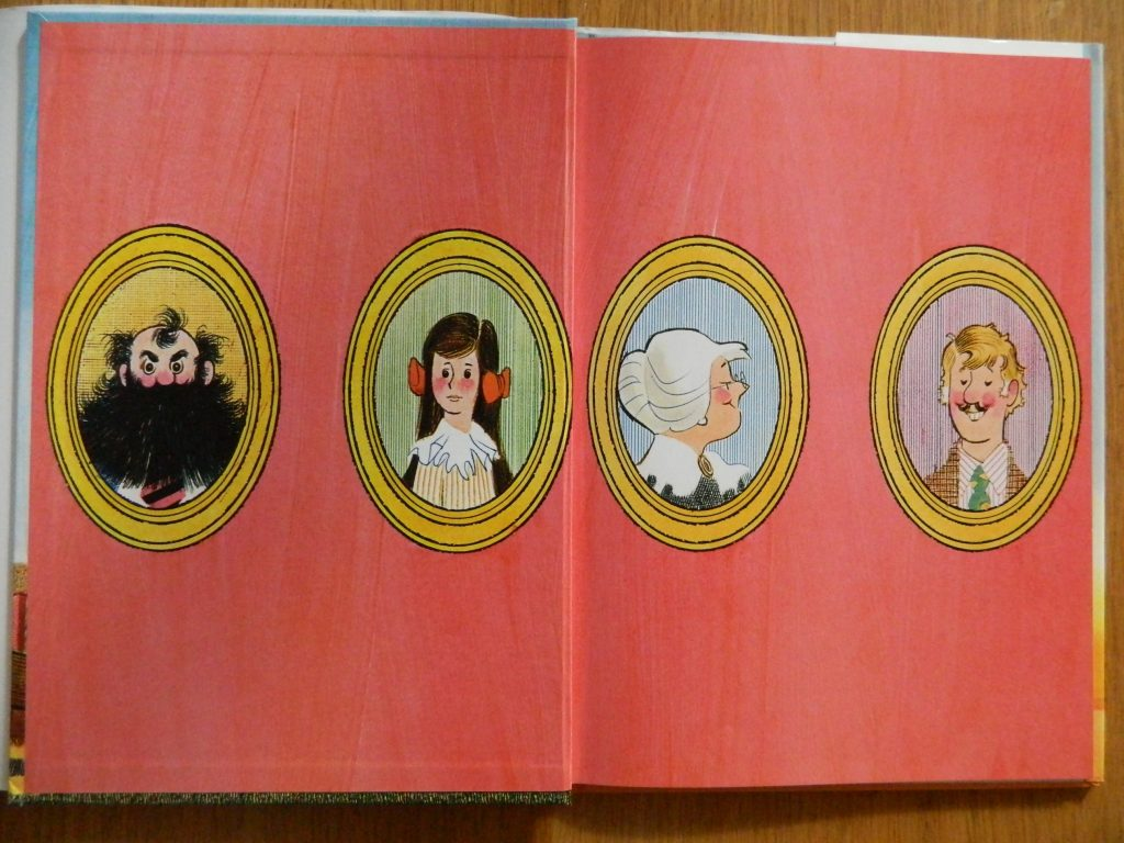 Endpapers of Cranberry Thanksgiving by Wende and Harry Devlin