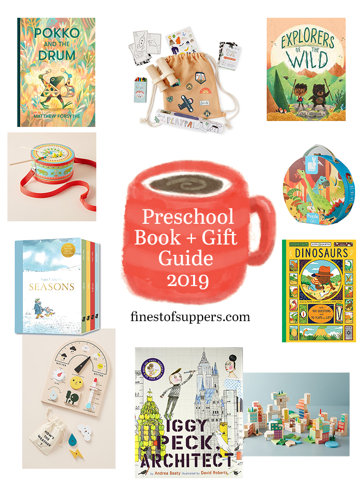 Preschool gift guide with books - finestofsuppers.com