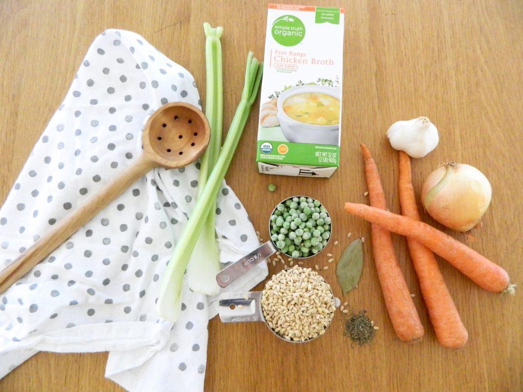 Ingredients for Vegetable Barley Soup - finestofsuppers.com