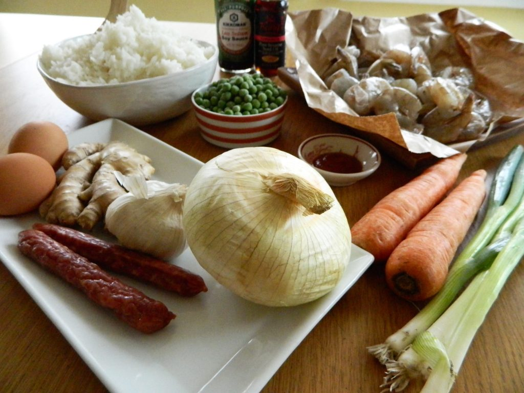 Ingredients for Emperor Fried Rice - finestofsuppers.com