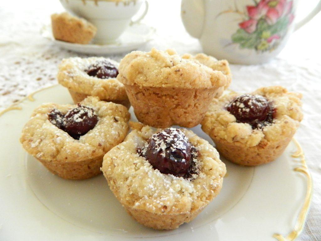 Cherry Almond Tea Cakes - finestofsuppers.com