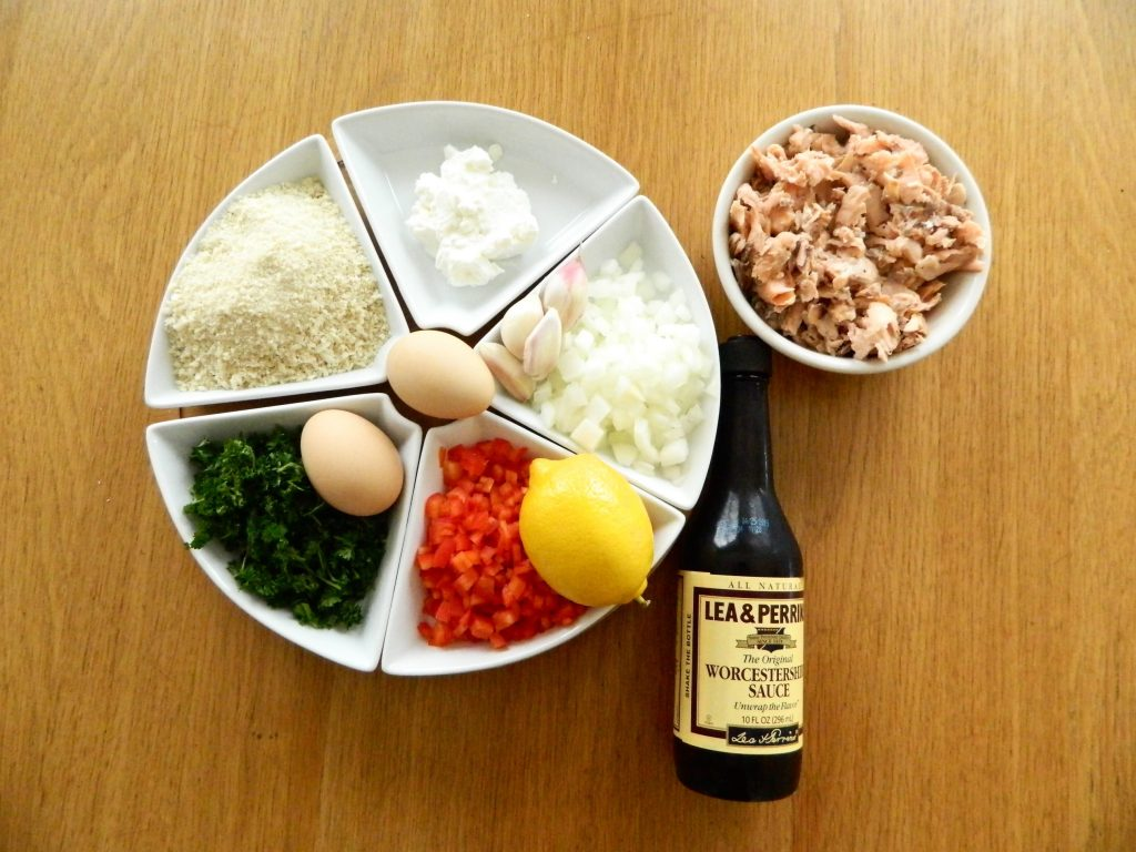 Ingredients for Salmon Croquettes - finestofsuppers.com