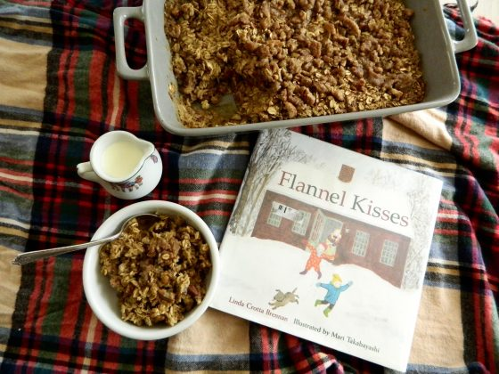 "Baked Winter Spice Oatmeal and review of the book ""Flannel Kisses"" - finestofsuppers.com"