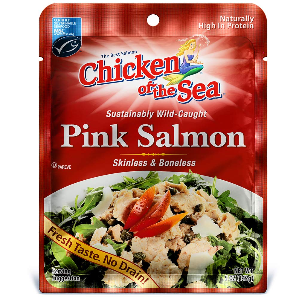 Salmon in a foil packet on amazon.com
