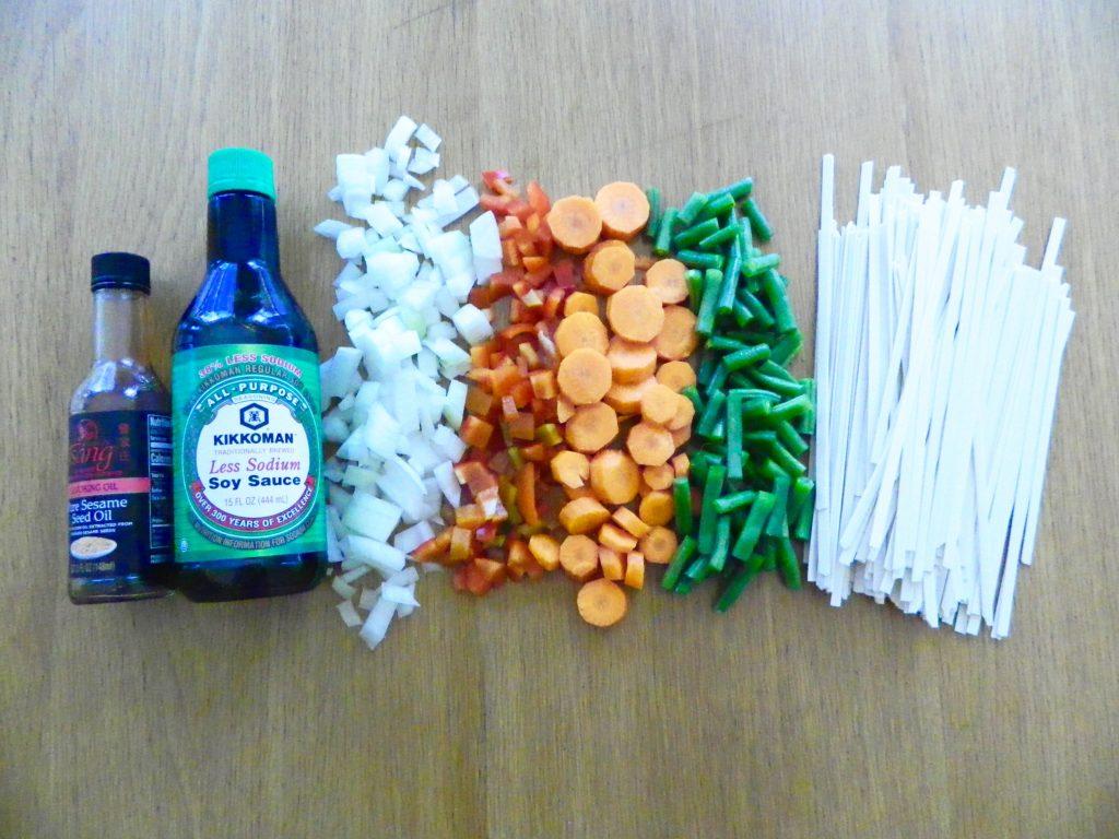Ingredients for Vegetable noodle Soup - finestofsuppers.com