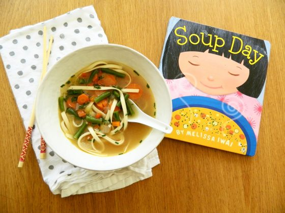 """Soup Day"" by Melissa Iwai and Vegetable Noodle Soup"