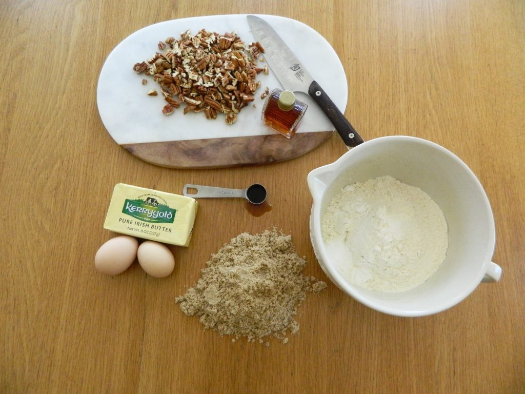 Ingredients for Maple Pecan Snack Cake - finestofsuppers.com